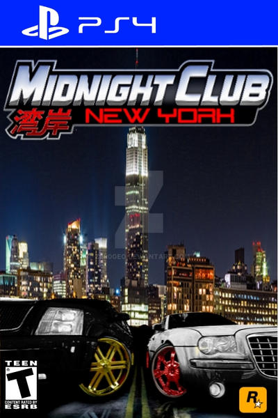 midnight club new york ps4 game cover by zer0geo on deviantart