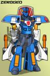 Transformers Animated: Sidebolt (Armada Blurr) by ZER0GEO