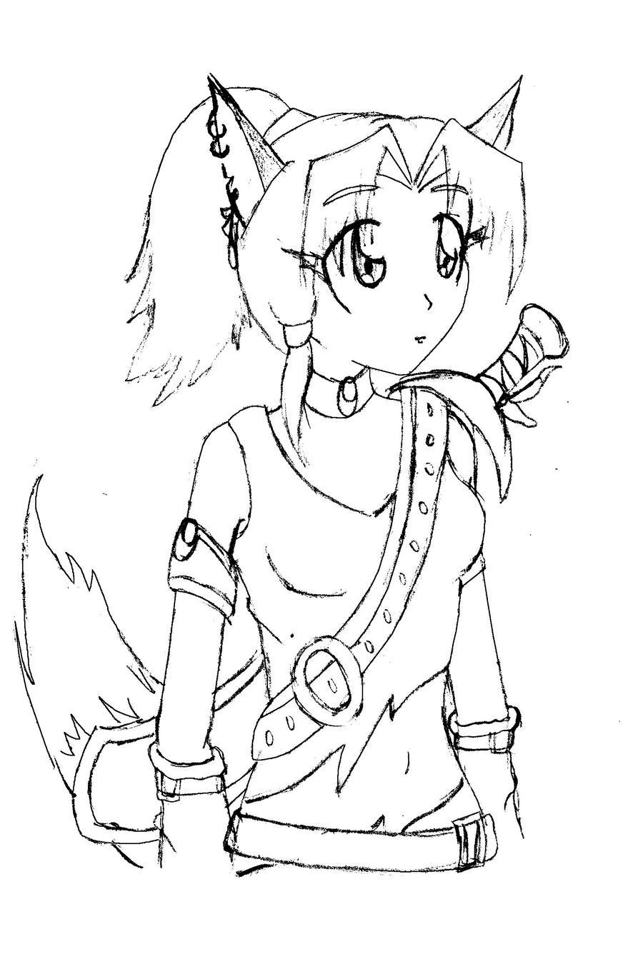 Fox Girl Drawing How to draw anime fox ...