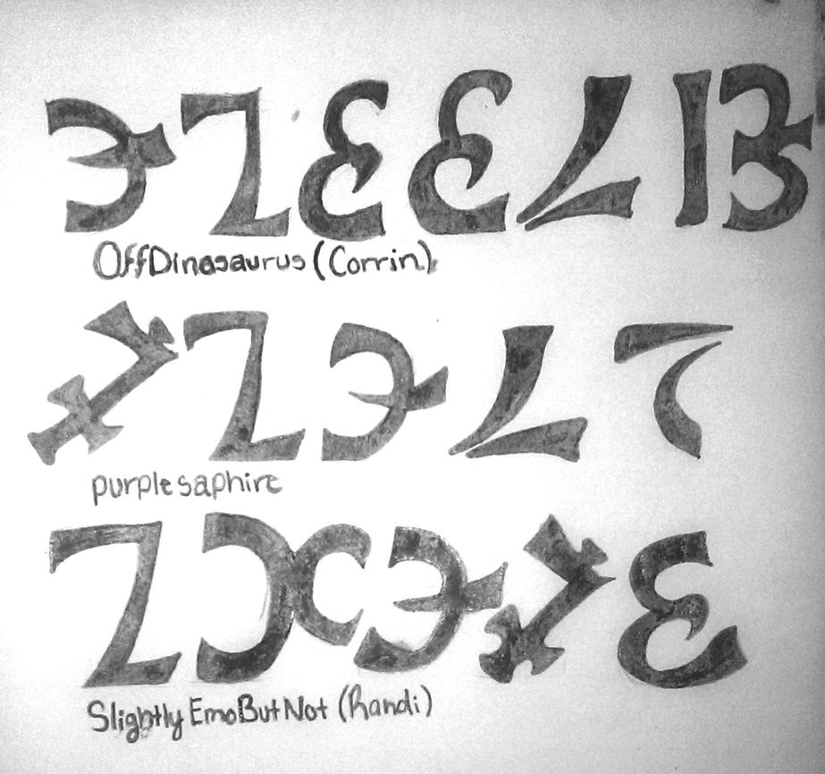 Calligraphy language enochian names by fishbcnes on