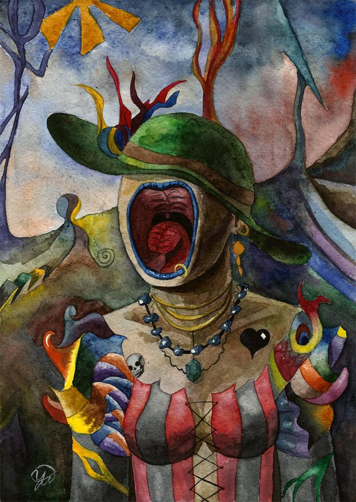 scream lady by Sasha-Drug