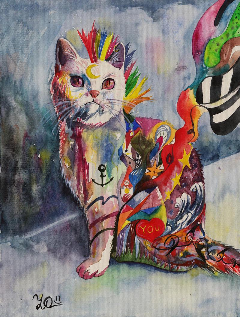 Wonder Cat (+painting video) by Sasha-Drug