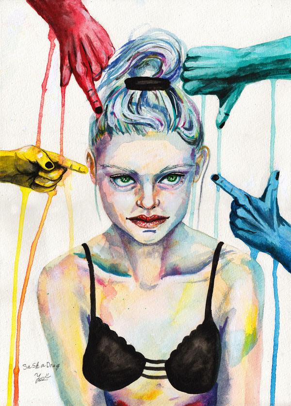 Simple Girl (+painting video) by Sasha-Drug