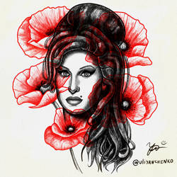 AMY WINEHOUSE and Poppies