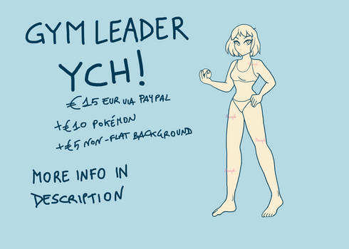 Pokemon Gym Leader YCH [female]