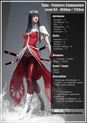 Taka Character sheet by SourAcid