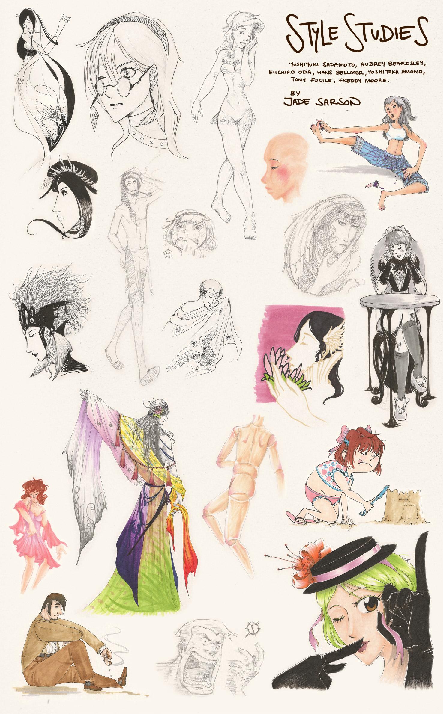 Character Style Studies by Lycorisu