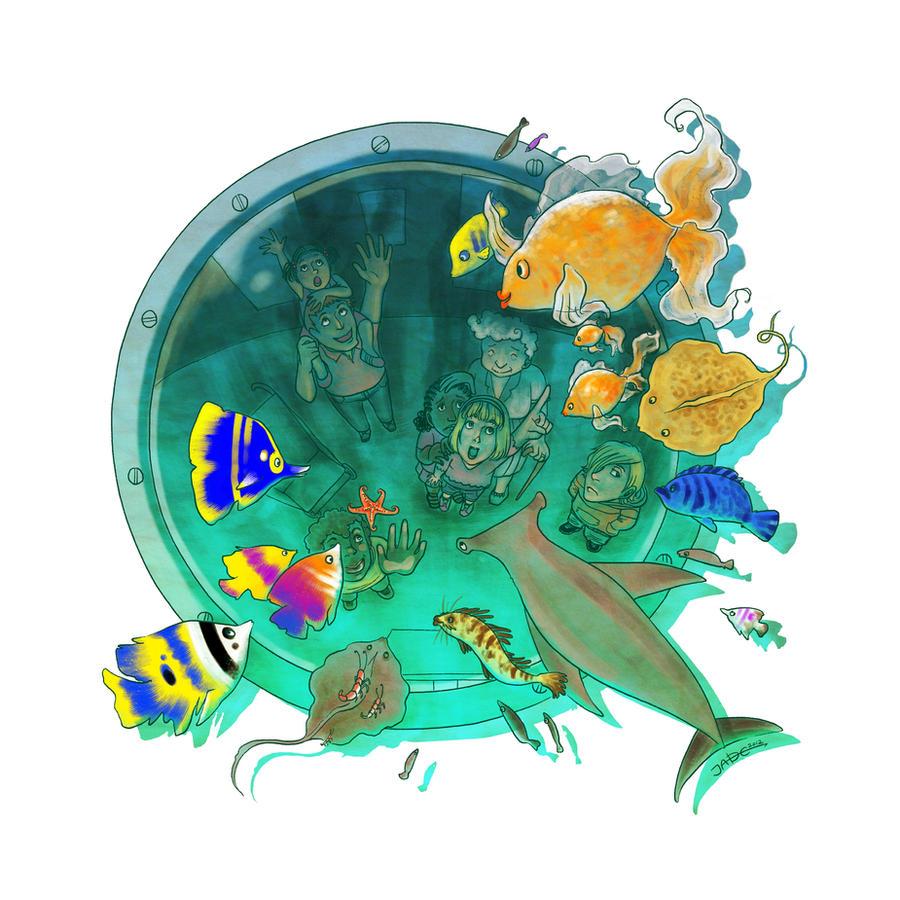 Kids in the Aquarium by Lycorisu