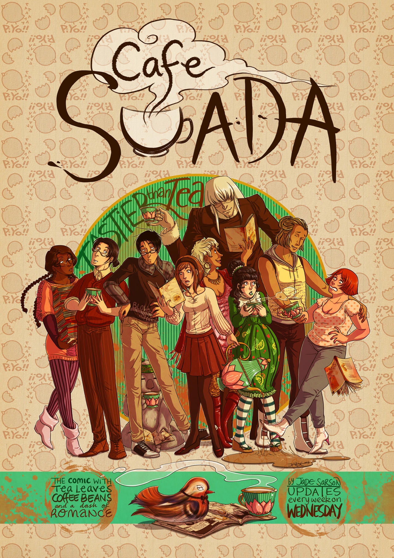 Cafe Suada Poster 2013 by Lycorisu