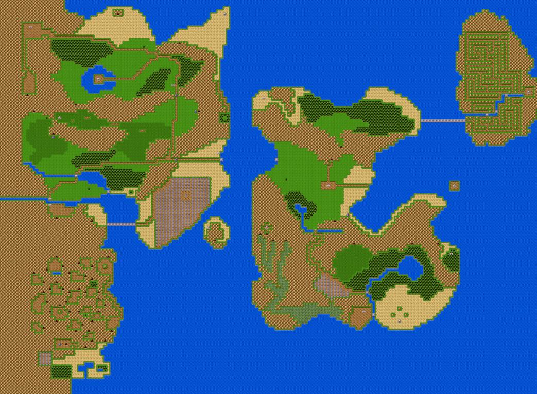 ReUpload of Legend of Zelda 2 World Map by shareyourworldwide on DeviantArt