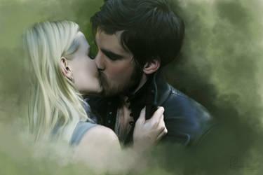 OUAT | kiss | Emma and Hook by Phoenixa86