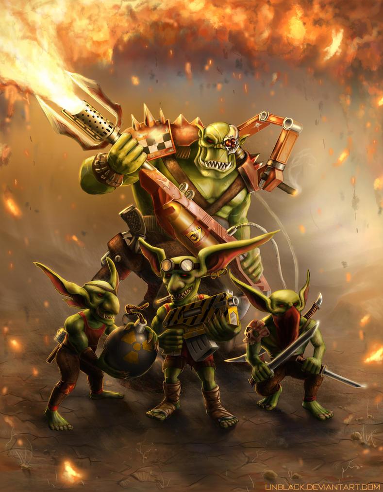 Ork Flamethrower by Linblack