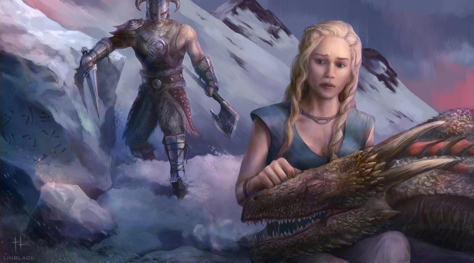 Daenerys vs Dragonborn by Linblack