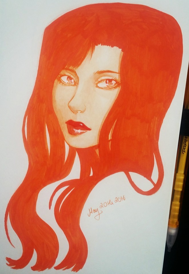 monochrome portrait by Misax3Misa