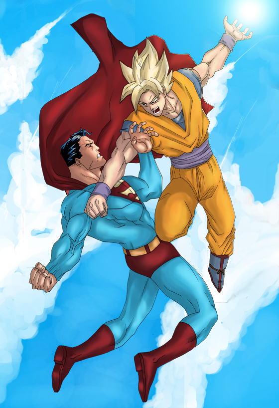 Goku Vs SuperMan by LS-Design on DeviantArt