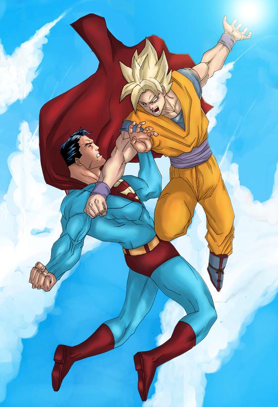 Goku Vs SuperMan by LS-Design on DeviantArt