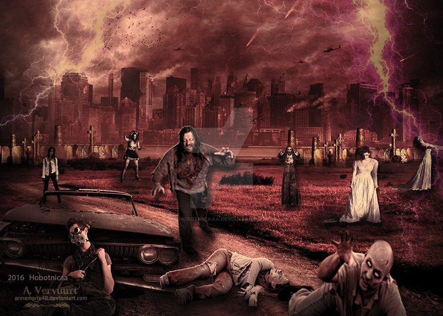 Zombie apocalypse by hobotnicaaa