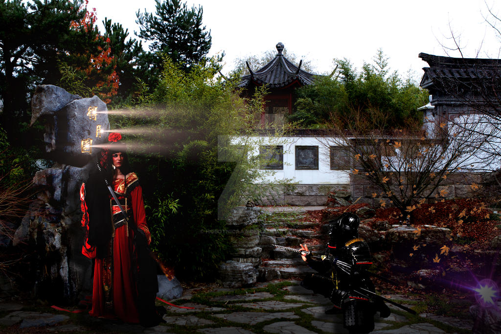 Samurai girl manipulation by hobotnicaaa
