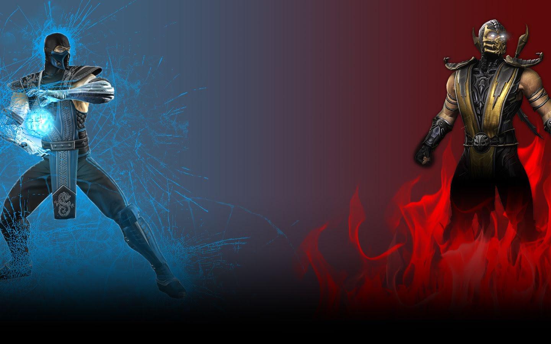 sub zero vs scorpion by dimitrisergejev fan art wallpaper games 2011 ...