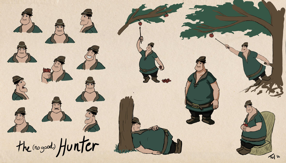 The (no-good) Hunter character sheet by Tul-152