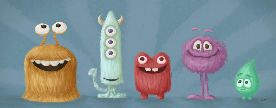 Fluffy Monsters by Tul-152