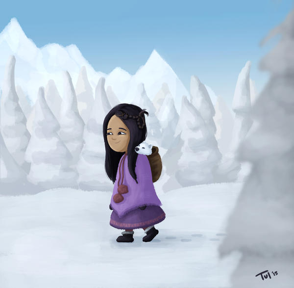 a walk in the snow by Tul-152