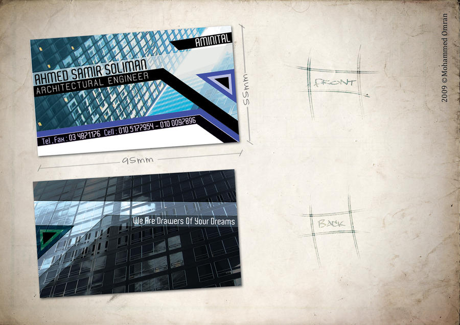 Architect Business Card. by omrantheone on DeviantArt