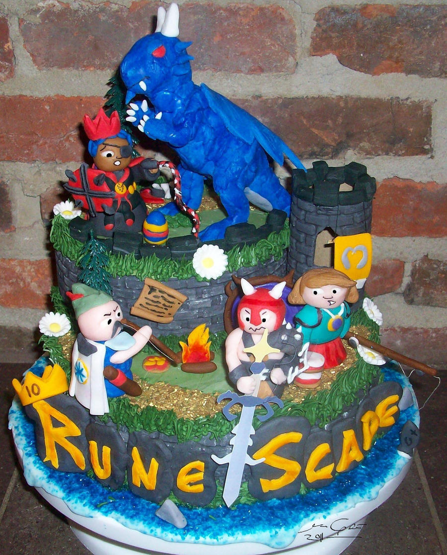 RuneScape 10 year Cake by MsGhia