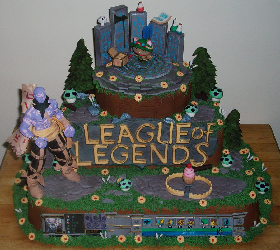 League of Legends Cake by MsGhia