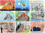 War of the Worlds book 2 sketch cards 1