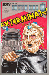 Doctor Who Sketch Cover - Davros by Bowthorpe
