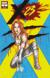 X-23 issue 1 sketch cover by Bowthorpe