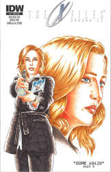 The X Files sketch cover by Bowthorpe