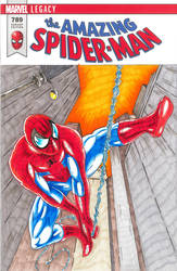 The Amazing Spider-Man sketch cover by Bowthorpe