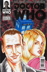 Ninth Doctor sketch cover 2 by Bowthorpe