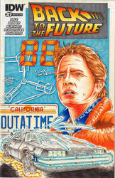 Back To The Future sketch cover by Bowthorpe