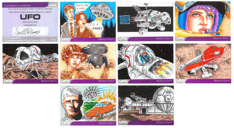 UFO series 2 sketch cards 1 by Bowthorpe
