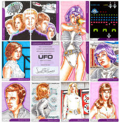 UFO series 2 sketch cards 2 by Bowthorpe