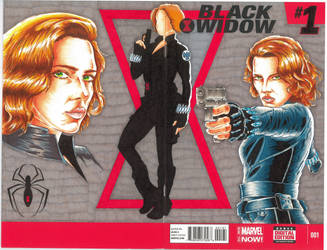 Black Widow sketch cover by Bowthorpe