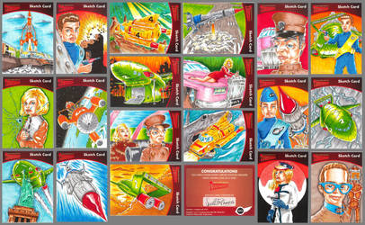 Thunderbirds series 2 sketch cards by Bowthorpe
