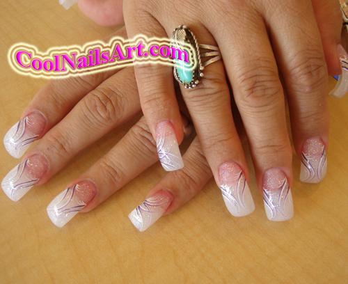 Cool nails design purple fla by thientu83