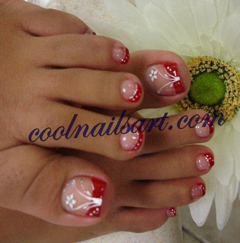 Red Toes Flower Design By Thientu83 On Deviantart