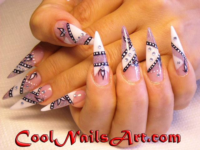 Cool Nail Art Design Celebrity Nail