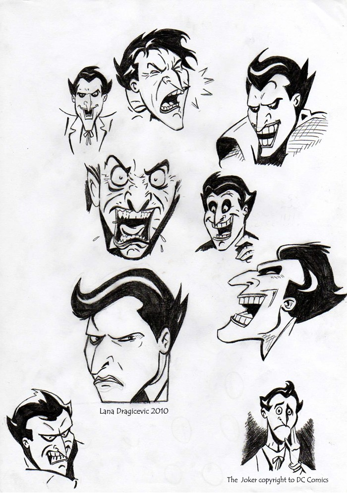 Joker Face Sketches By Teq Uila