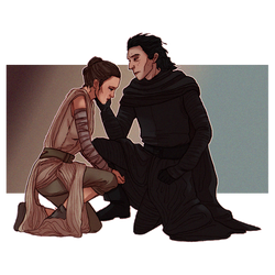 Rey and Kylo