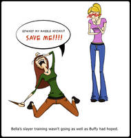 Bella the Vampire Slayer by hatteress