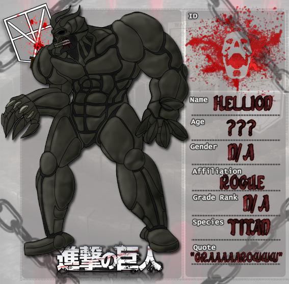 Shingeki no Kyojin OC: Hellion Titan