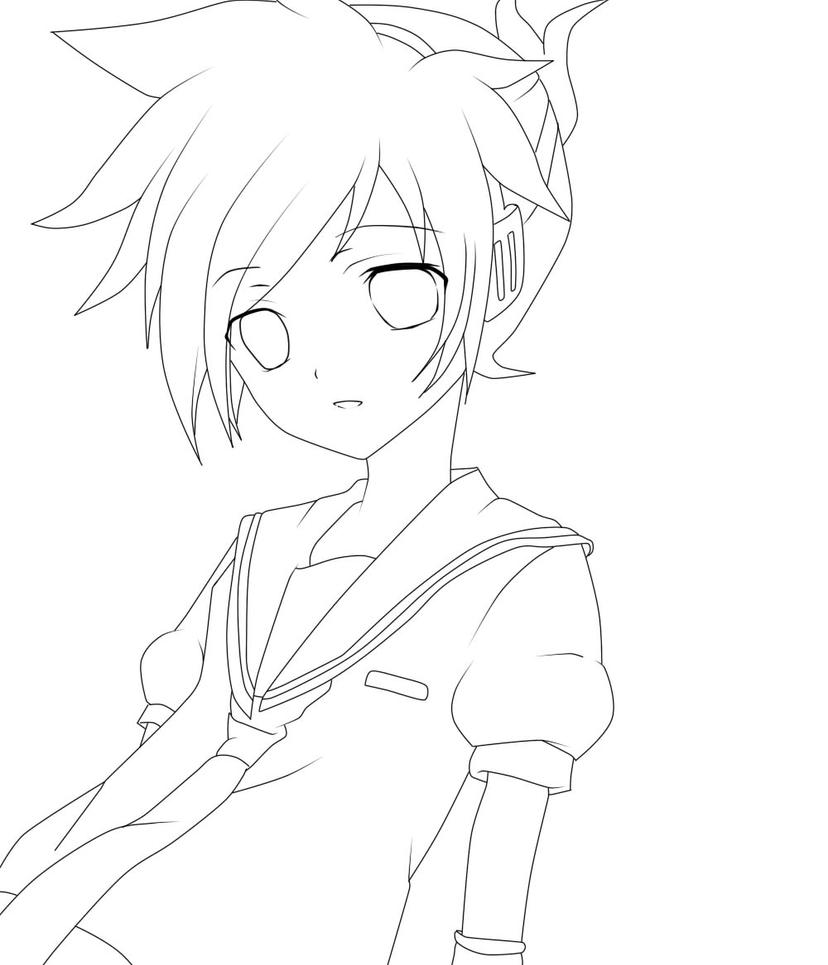Line Art Editor : Rin and len coloring pages sketch page