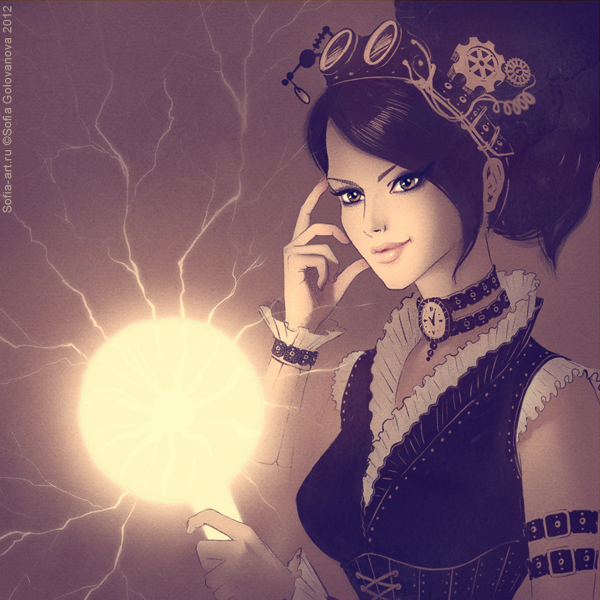 steampunk girl by glavnayasova