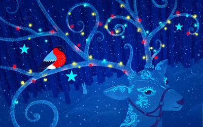 Christmas wallpaper by SofiaGolovanova